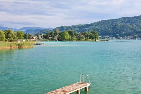Lake Worth (Wörthersee), Karinthië. Oostenrijk Stockfoto