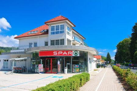 Resort Velden am Worthersee. Oostenrijk Redactioneel