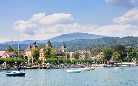 Resort Velden am Worthersee See en Lake Worth. Oostenrijk