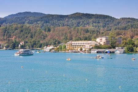 Resort Portschach.Lake Worthersee. Oostenrijk