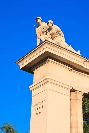 the liberator: Particolare del monumento ai soldati sovietici a Vienna. Austria