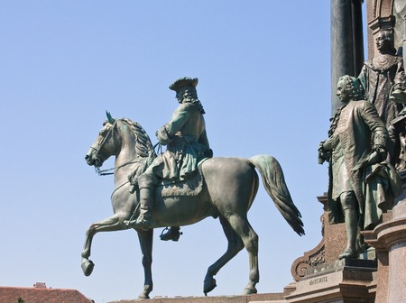 councilor: Detail of the monument to Maria Theresa. Vienna. Austria Editorial