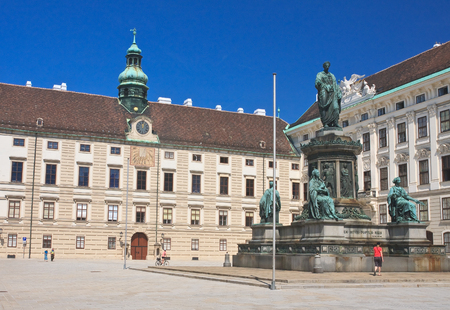 franz: Hofburg. Monument to Franz I,. Vienna. Austria