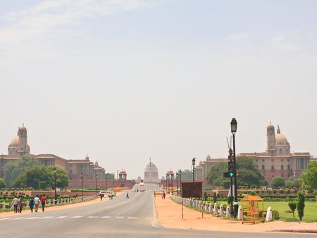 Esplanade Rajpath. The Indian government buildings. Residence of the President of India. New Delhi