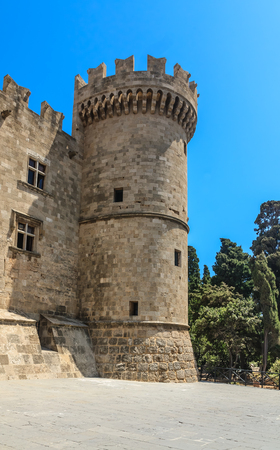 masters of rock: Tower Palace of the Grand Masters. Old Town. Rhodes Island. Greece