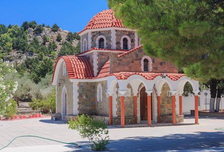 tsampika: Church on the way to the mountain Tsambika. Rhodes Island. Greece