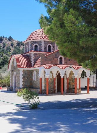 tsambika: Church on the way to the mountain Tsambika. Rhodes Island. Greece
