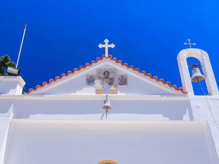 sporades: Churchr. Kato Monastery Tsambika. Rhodes Island. Greece
