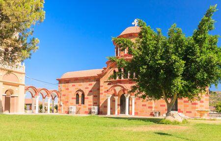 sporades: Church in the village of Pilon (Pylonas). Rhodes Island. Greece