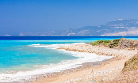 rhodes: Aegean coast. Rhodes Island. Greece Stock Photo