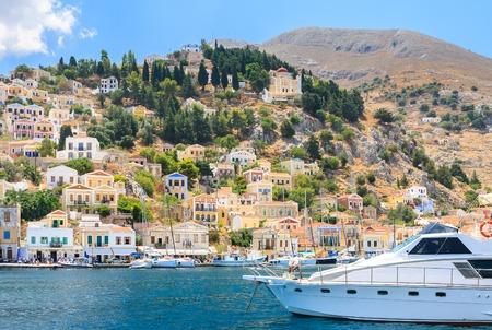 ano: The capital of the island of Symi - Ano Symi. Greece