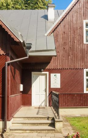 composers: Ciurlionis Memorial Museum in Druskininkai.  Lithuania Editorial