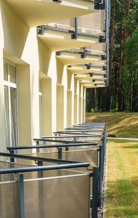 window treatments: Fragment body wellness resort Egle +. Druskininkai, Lithuania Editorial
