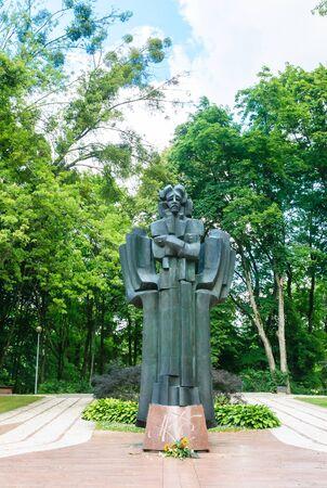 lithuania: Monument Ciurlionis in Druskininkai, Lithuania Stock Photo