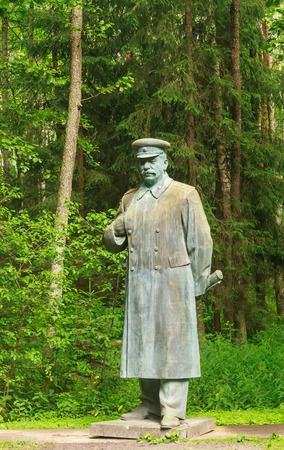 totalitarianism: The monument to Stalin in Grutas Park. Lithuania