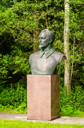 felix: Monument to Felix Dzerzhinsky. Grutas Park. Lithuania Editorial