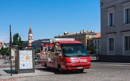 vilnius: Sightseeing bus. Vilnius. Lithuania Editorial