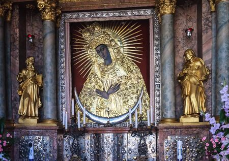 miraculous: The miraculous icon of Our Lady of Mercy in Vilnius. Lithuania