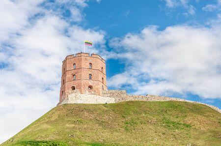 vilnius: Tower of Gediminas, Vilnius, Lithuania Stock Photo