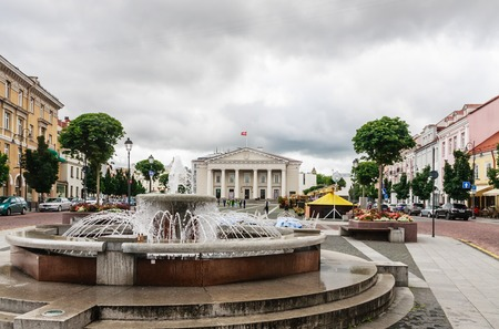 town hall square: Town Hall Square, Vilnius, Lithuania Editorial