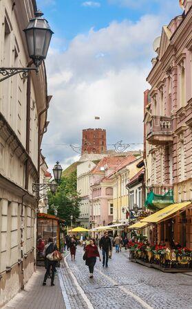 vilnius: Street Didzioji, Vilnius. Lithuania