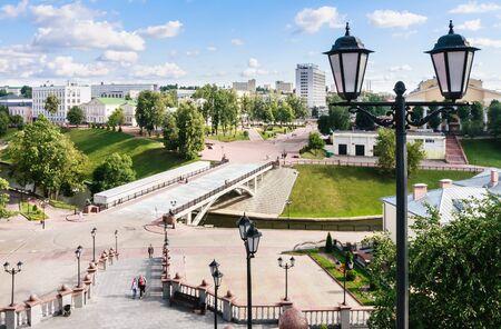 belarus: Vitebsk, Pushkin bridge. Belarus
