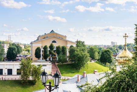 named person: Vitebsk. Drama Theatre them Yakub Kolas and Holy Spirit Temple. Belarus