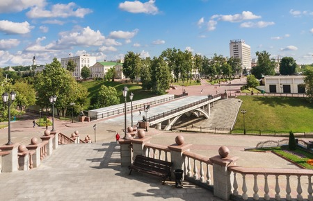 city pushkin: Vitebsk, Pushkin bridge. Belarus