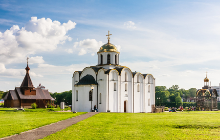 annunciation: Church of the Annunciation and the Church of the Holy Prince Alexander Nevsky. Vitebsk. Belarus Stock Photo