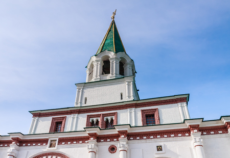double headed eagle: Moscow. Reserve Kolomenskoye. Tower of the Palace (front) gate