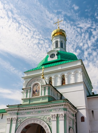 Holy Trinity St. Sergius Lavra. Gate Church of the Holy Gates. Sergiev Posad, Moscow region Stock Photo