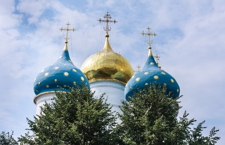Cathedral of the Assumption of the Blessed Virgin Mary. Holy Trinity-St. Sergiev Posad. Moscow region