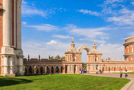 moldings: Palace gates. Museum-Reserve Tsaritsyno. Moscow