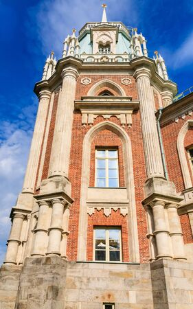 tsaritsyno: A fragment of the Grand Palace architecture. Museum-Reserve Tsaritsyno. Moscow