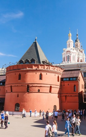spassky: Old Tower Kitai-Gorod wall at Theater Square. Moscow