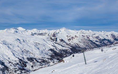 val: Valley view of Val Thorens.  France