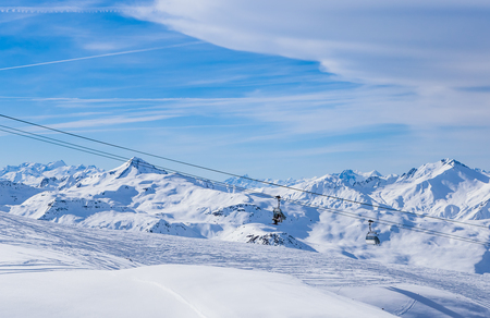 valley view: Valley view of Val Thorens.  France