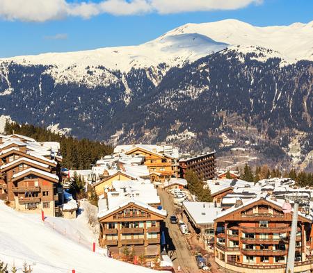 Ski Resort Courchevel 1850 m in wintertime. France Reklamní fotografie