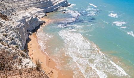 The white cliff called Scala dei Turchi in Sicily, near Agrigento. Italy