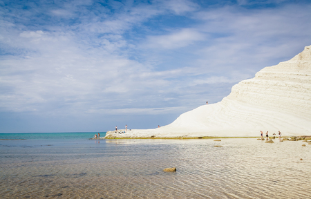 dei: The white cliff called Scala dei Turchi in Sicily, near Agrigento. Italy