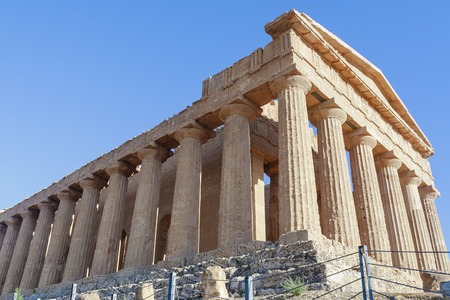 concordia: Temple of Concordia. Valley of the Temples in Agrigento.Sicily. Italy Stock Photo