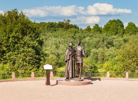 mendeleev: Monument to Alexander Blok and Lyubov Mendeleev. Village Tarakanovo. Solnechnogorsk district. Moscow region Editorial