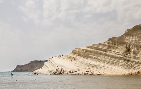 scala: The white cliff called Scala dei Turchi in Sicily, near Agrigento. Italy