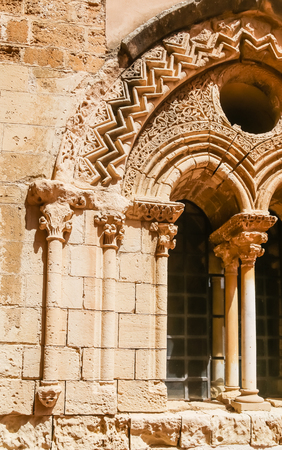 Interior of the monastery building of Spirito Santo in Agrigento, Sicily, Italy Stock Photo