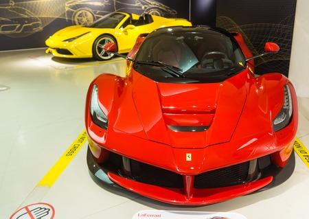 enzo: Museum Enzo Ferrari. Exhibition hall of sport cars Ferrari Editorial
