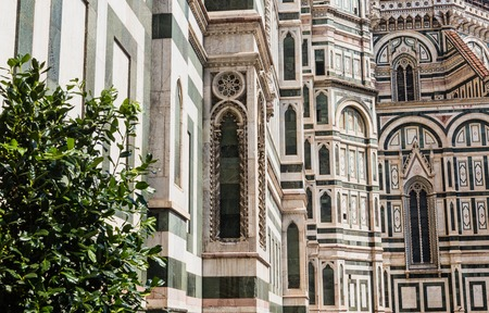 elaborate: Details of Florence Cathedral, Florence, Italy