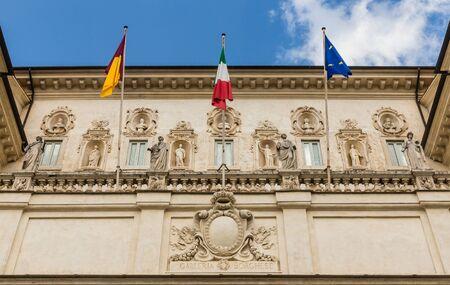 View at facade of Galleria Borghese in Villa Borghese, Rome, Italy Editorial