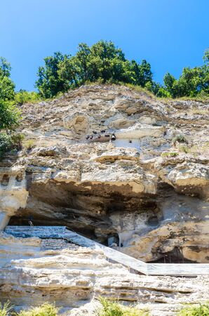 occupied: Alazhda Monastery, rock monastery occupied in the 11th -14th centuries. Bulgaria Stock Photo