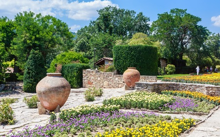Botanical Garden in Balchik. The territory of the palace of the Romanian Queen Maria. Bulgaria Stock Photo