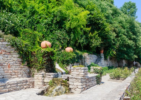 balchik: Botanical Garden in Balchik. The territory of the palace of the Romanian Queen Maria. Bulgaria Editorial
